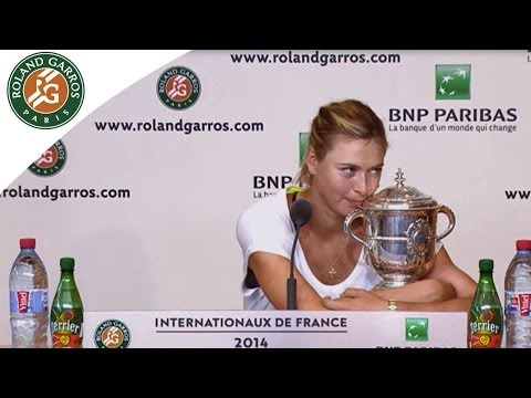 Press conference M.Sharapova 2014 French Open Final