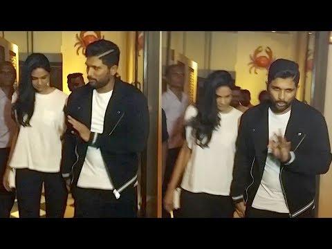 Allu Arjun With Wife Sneha Reddy Spotted In Mumbai Promoting Naa Peru Surya,Naa Illu India