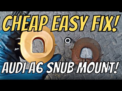 How to replace Audi C6 A6 Front Snub Mount '06 -'11 | DIY