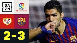 Luis Suarez schießt Barca zu Last-Minute-Sieg: Rayo - Barcelona 2:3 | LaLiga | DAZN Highlights