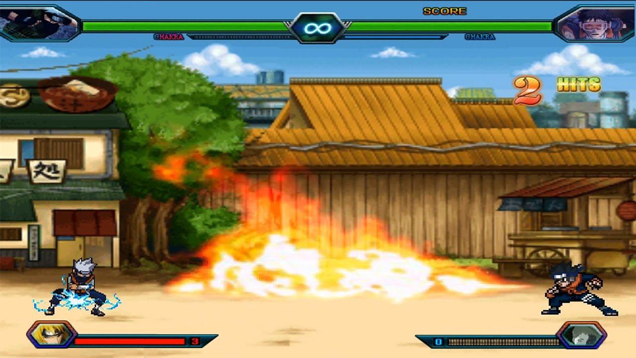Kakashi Kid VS Obito Kid - Bleach Vs Naruto 3.3 (Modded)