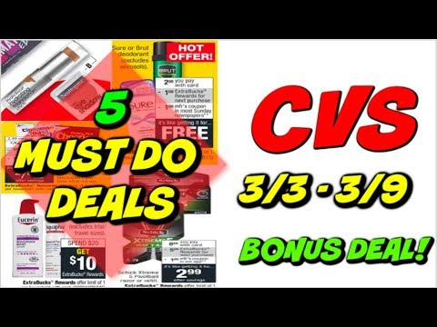 5 MUST DO CVS DEALS 3/3 - 3/9 | 🔥 DEALS ON DEODORANT, NEUTROGENA, CEREAL & MORE!