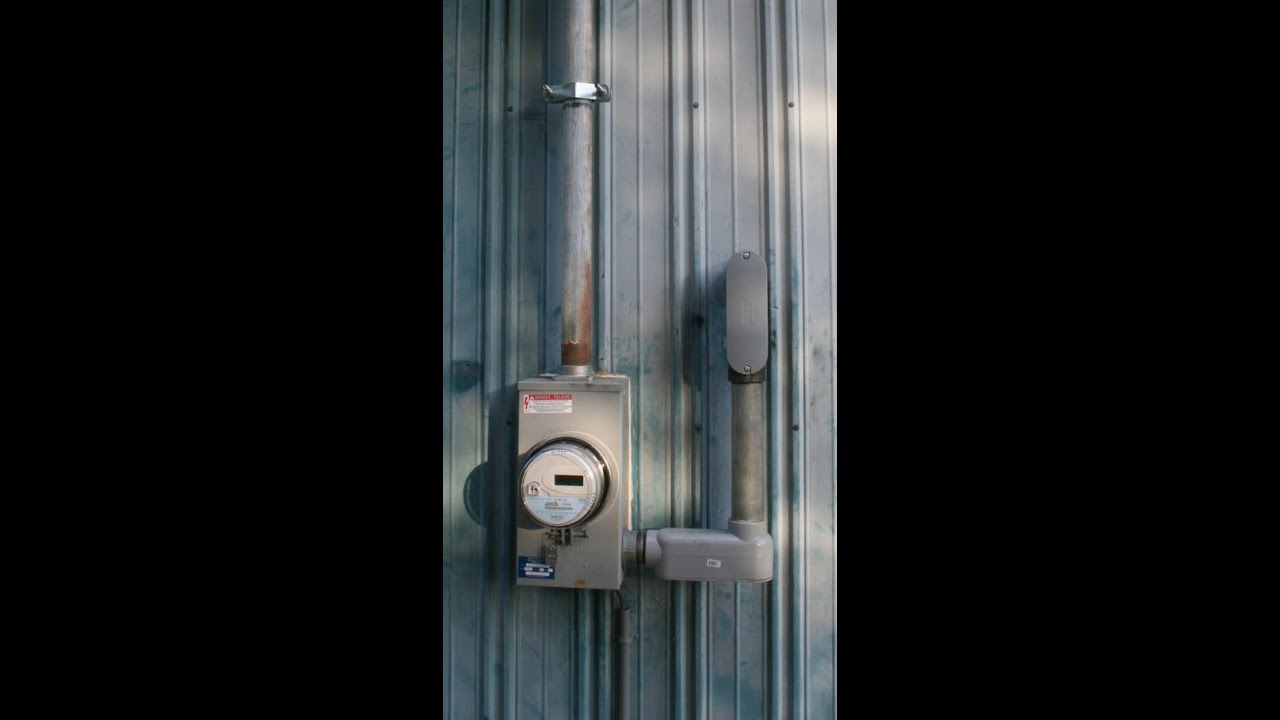 DIY Electrical Wiring Workshop Service Entrance - YouTube