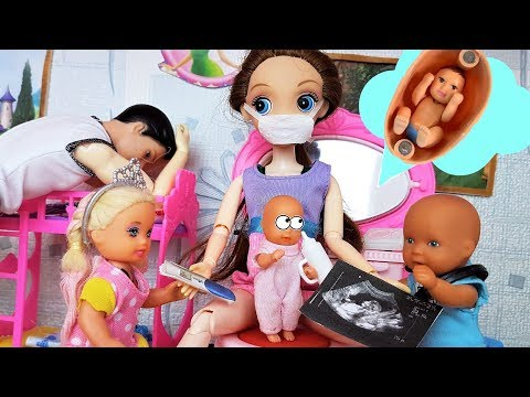 МАМА КАТИ и МАКСА БЕРЕМЕННА! ВЕСЕЛАЯ СЕМЕЙКА #БАРБИ #МУЛЬТИК С куклами #сидимдома