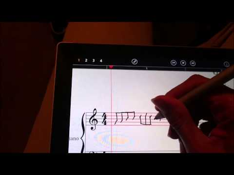 First time testing StaffPad on the Microsoft Surface Pro 3! AWESOME APP