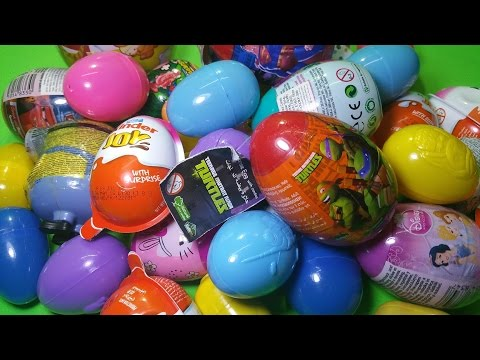 35 Egg Surprise - SpongeBob, HelloKitty, KInder Joy, Cars, TMNT, DisneyPrincess, Minions, Dora