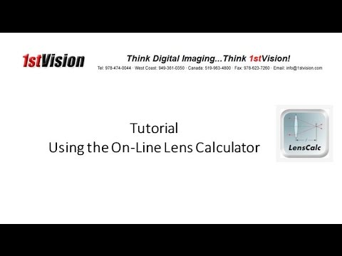 Focal Length/FOV Lens Calculator
