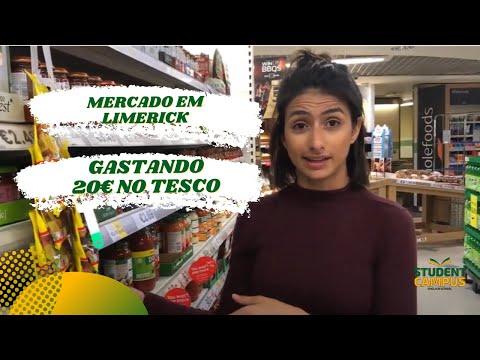 Mercado em Limerick com a Student Campus - Gastando 20€ no Tesco