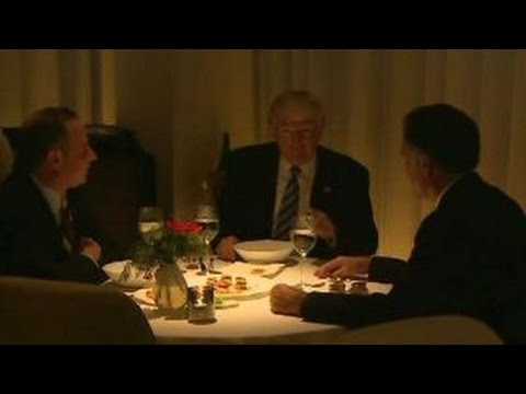 Eating large with Donald Trump