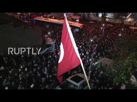 Turkey: Hundreds protest at US consulate over Trump decision