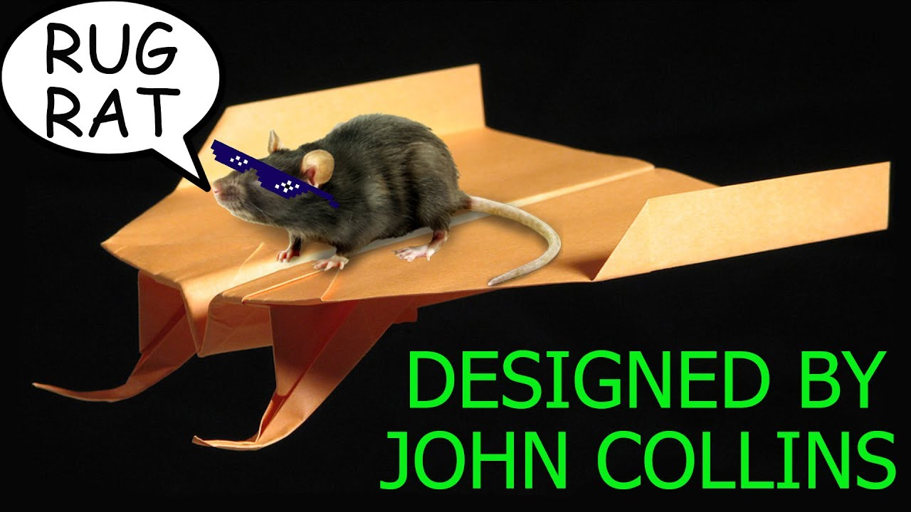 How To Make Paper Airplane Rug Rat (John Collins)