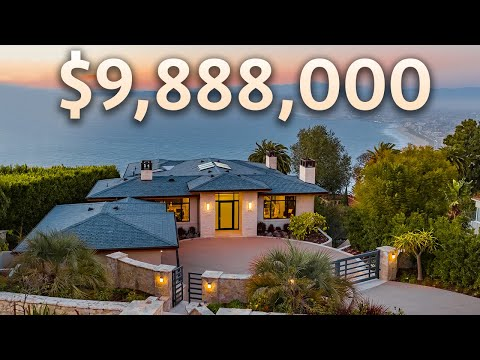 Touring a $9,888,000 Newly Constructed Los Angeles Mansion with Incredible OCEAN AND CITY VIEWS!