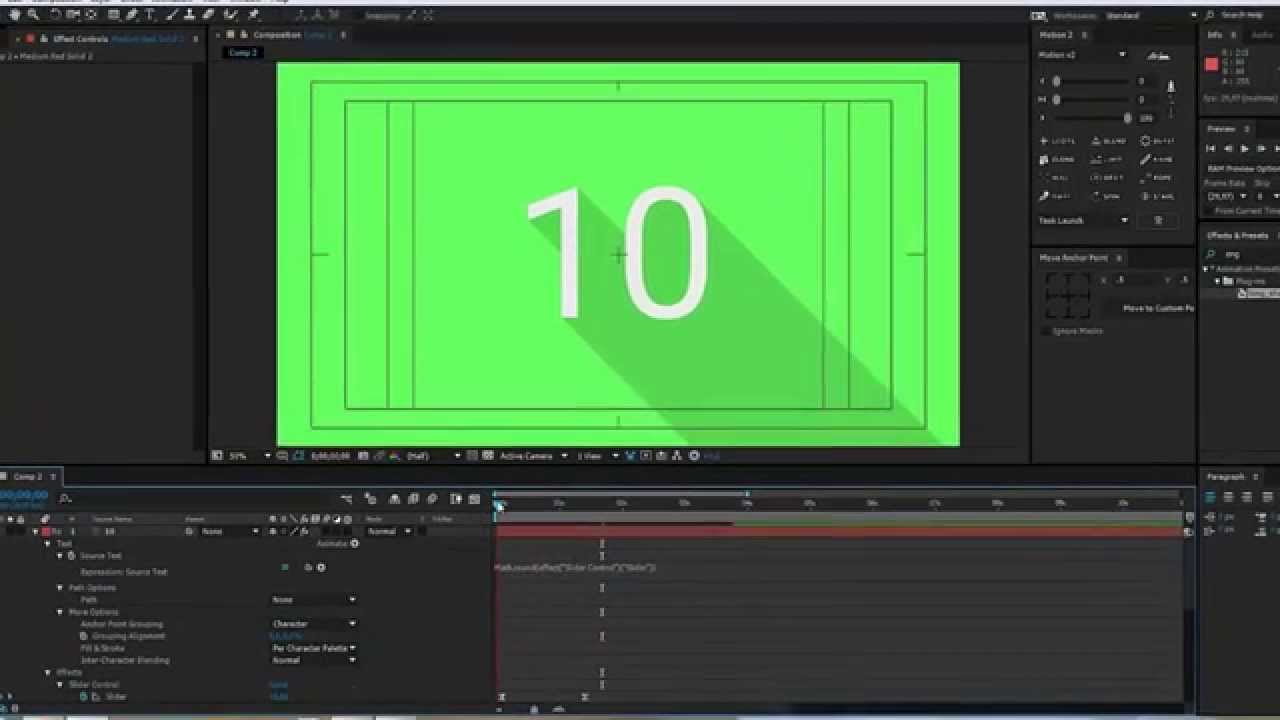 Animated Counting Numbers in After Effects | Slider Control