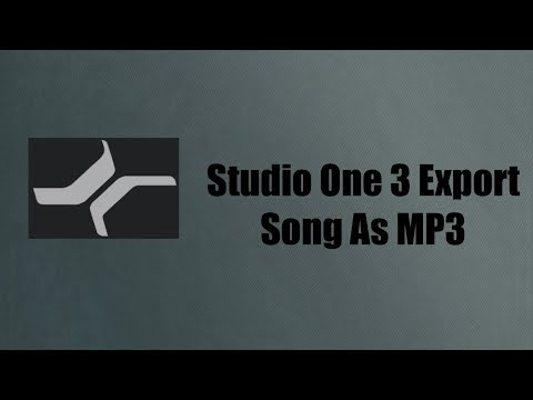 Studio One 3 Convert Song As MP3 | Studio One 3 Tutorial