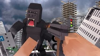 Minecraft | MURDER MAZE - King Kong Destroys a CITY! (KING KONG MOVIE MOD)
