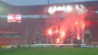 Tribuna Sever a Torcida v Edenu ..  SK Slavia Praha - HNK Hajduk Split (1:0) 2:0