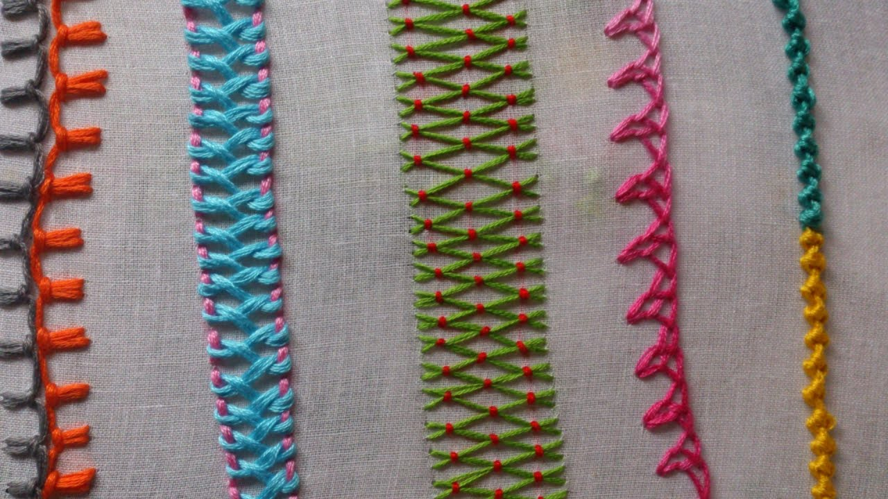 Hand Embroidery Stitches Tutorial For Beginners Part 1 Youtube