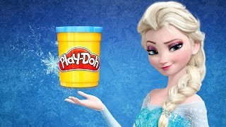Learn Colors with Frozen Elsa Colors to Kids Play Doh How to Make a Disney Frozen Elsa Ice Cream
