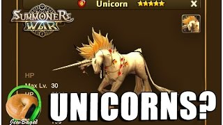SUMMONERS WAR : Leaked data for new Unicorn monsters?
