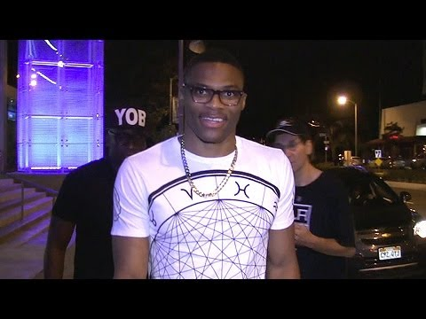 NBA PG Russell Westbrook Parties In West Hollywood