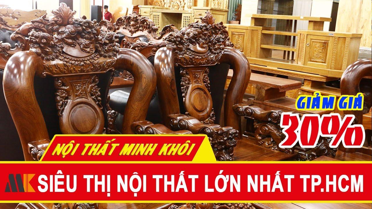 Bộ Salon gỗ cẩm lai siêu phẩm, Tay 14, 10 món – Giảm 30% – Nội Thất Minh Khôi | Salon và các thông tin mới nhất