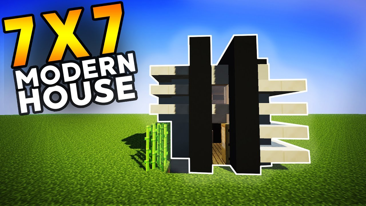 Minecraft lets build 7x7 modern house