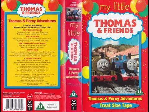 My Little Thomas & Friends: Thomas & Percy Adventures (2001 UK VHS) thumbnail