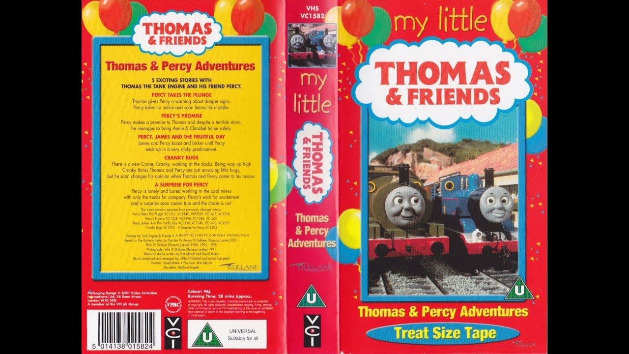 f064d91eac23 My Little Thomas & Friends: Thomas & Percy Adventures (2001 UK VHS)