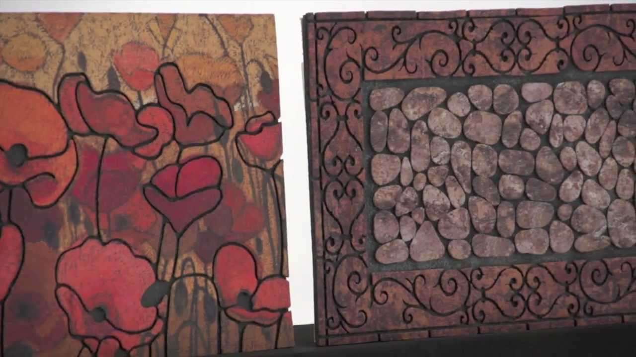 Recycled Rubber Doormats By Mohawk Home   YouTube