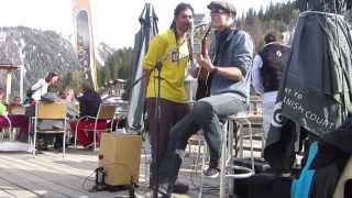 Jamming with Osy Rys @ Bar des Etablons, La Tzoumaz, CH 10.04.15