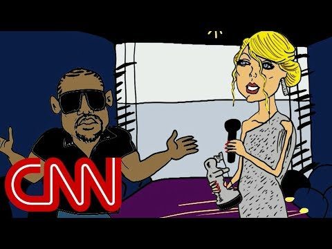Kanye and Taylor Swift renew feud - Drawn by Jake Tapper