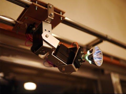 Myra an intelligent robotic lighting system for your home & Myra an intelligent robotic lighting system for your home - YouTube