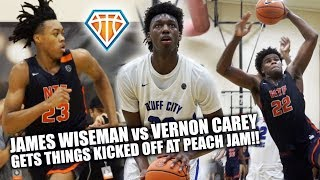 Vernon Carey vs James Wiseman!! | TOP 2 BIG MEN FACE OFF on the First Night of Peach Jam