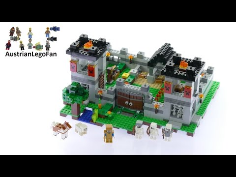 Lego Minecraft 21127 The Fortress - Lego Speed Build Review