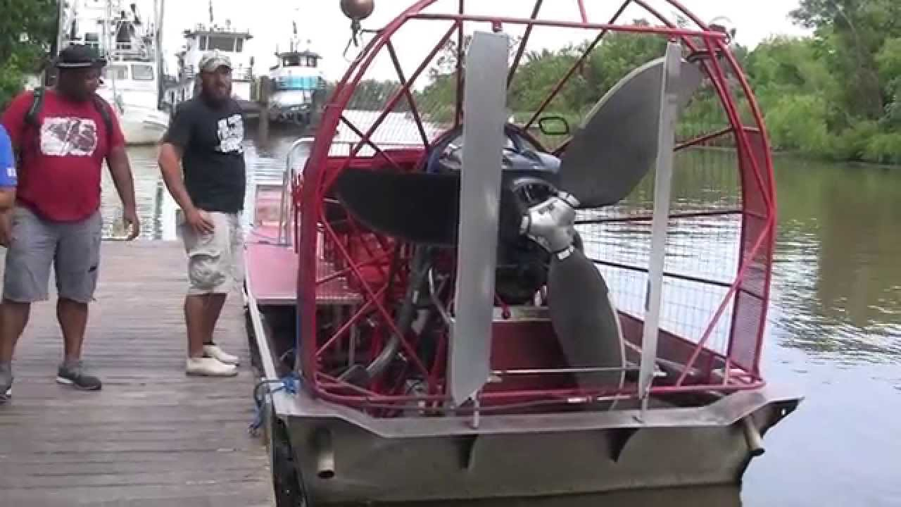 wind tunnel motor air boat swamp tours new orleans youtube