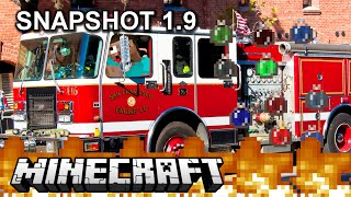 3 Hidden Things in Minecraft Snapshot version 1.9. Fire Rescue!!!