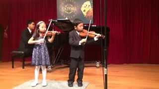 Angela and Nathaniel playing Double Dazzle