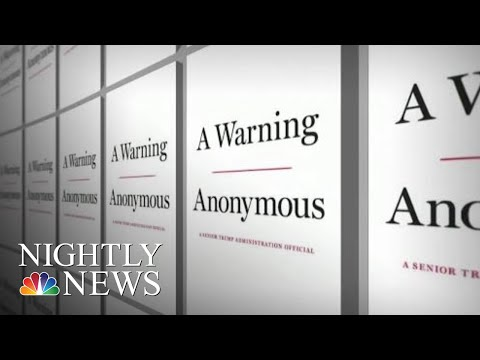 New Claims About The President In Anonymous' Soon-To-Be Published Book | NBC Nightly News