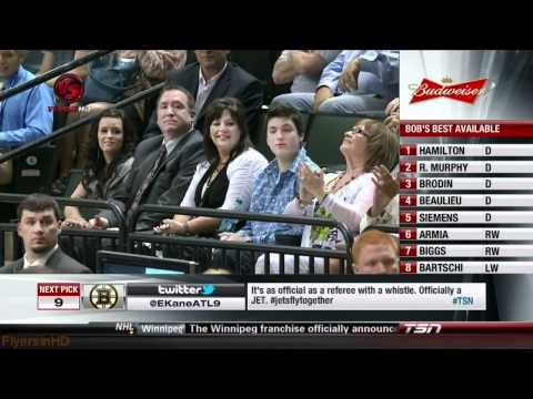 The Philadelphia Flyers Select Sean Couturier in the 2011 NHL Draft - [HD]
