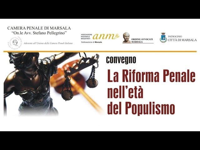 La riforma penale nell'età del populismo