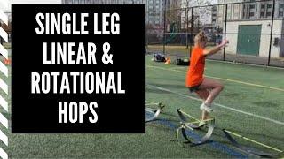 Lacrosse Training: Single Leg Linear & Rotational Hops