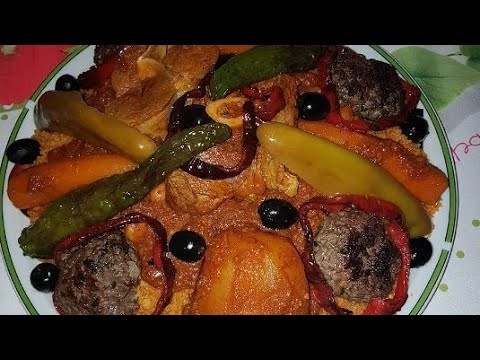 recette-:-couscous-tunisien-دلل-روحك-بأشهى-وأروع-كسكسي-تونسي-🥕🥒🌶️🍅