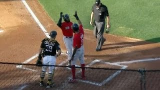 3/28/17: Betts drives in four to lead Red Sox to win