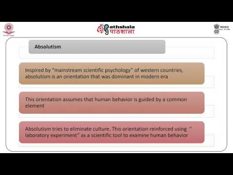 Cultural Relativity and Universality of Human Behaviour (PSY)