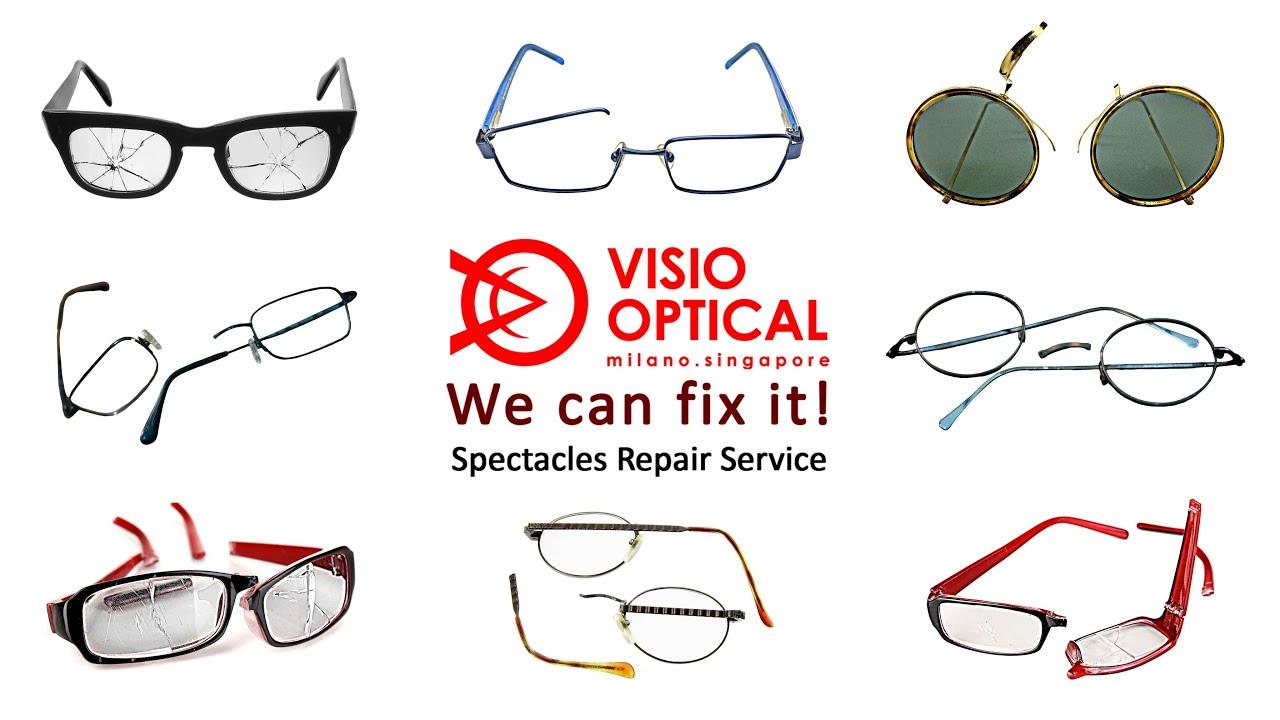 professional spectacles repair service visio optical singapore