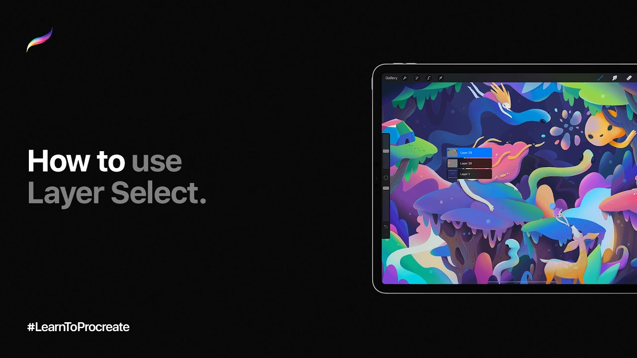 How to use Layer Select in Procreate
