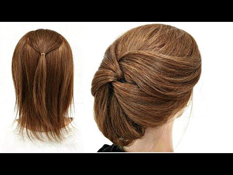 Прическа для Коротких волос. Просто сделать СЕБЕ! Hairstyle For Short Hair. Just Do It YOURSELF!