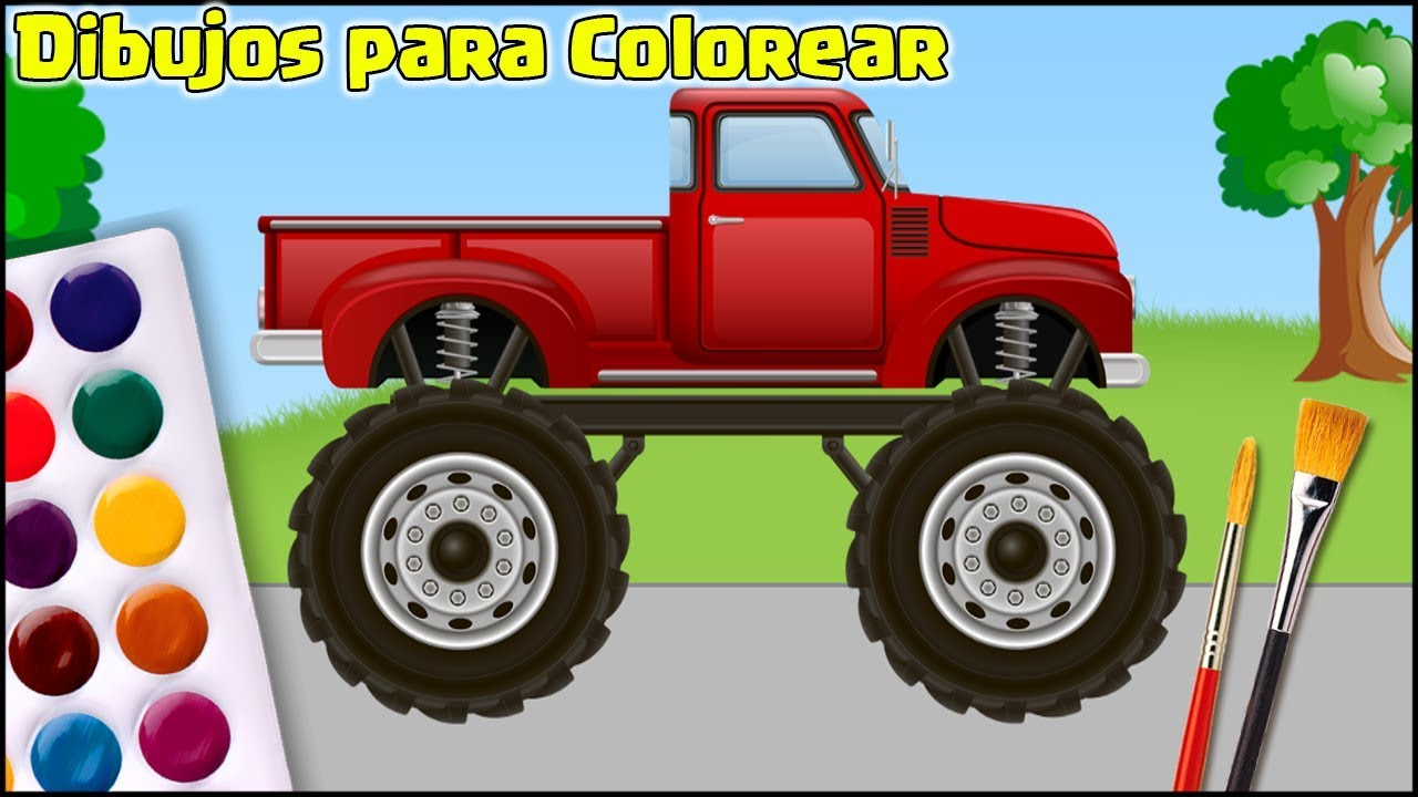 Dibujos para Colorear - Camión de la Granja - Vamos a Colorear y ...