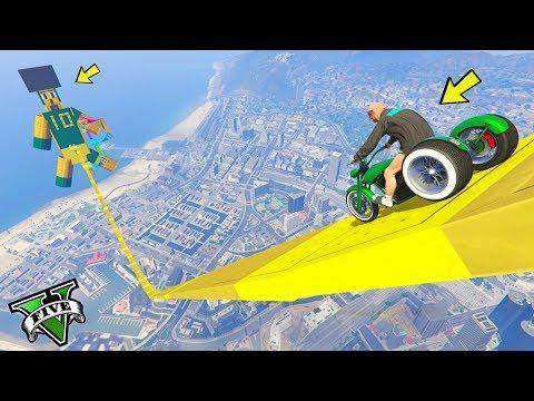 GTA 5 ONLINE 🐷 MEGA RAMPA CON TRICICLO !!!🐷 GARE PARKOUR 🐷N*217🐷 GTA 5 ITA 🐷 DAJE !!!