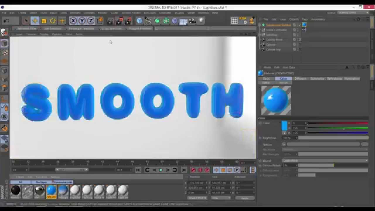 Even Smoother Text in Cinema 4D